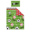 Football Red 4 in 1 Junior Bedding Bundle Set (Duvet, Pillow and Covers)