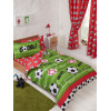 Football Red and Green Single Duvet Cover Set