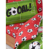 Football Red Single Reversible Duvet Cover Set