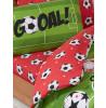 Football Red Junior Reversible Duvet Cover Set