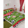 Football Red and Green Double Duvet Cover Set