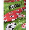Football Red Reversible Double Duvet Cover Set