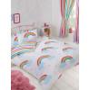 Rainbow Sky Reversible Double Duvet Cover Set