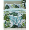 Tropical Palm Leaves Single Duvet Cover and Pillowcase Set
