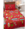 Christmas Fun Single Duvet Cover and Pillowcase Set