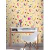 Rasch Birds Wallpaper - Yellow 293029 Feature Wall
