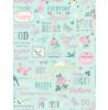Rasch Inspirations Wallpaper - Teal and Pink 216714