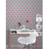 Rasch Star Wallpaper - Pink and Grey Bedroom 247619