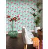 Rasch Barbara Becker Flamingo Wallpaper - 479706 Teal and Pink