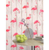 Rasch Barbara Becker Flamingo Wallpaper - Natural 479720 Living Room