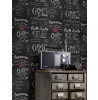 Coffee Shop Blackboard Wallpaper Rasch 234602 Feature Wall