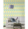 Pale Teal and Yellow Pineapple Wallpaper by Barbara Becker - Rasch 862133