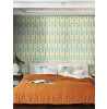 Pineapple Wallpaper by Barbara Becker - Pale Teal and Yellow Feature Wall Rasch 862133