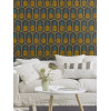 Pineapple Wallpaper by Barbara Becker - Black and Yellow Feature Wall Rasch 862140
