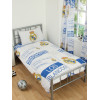 Real Madrid CF Patch Single Duvet Cover and Pillowcase Set