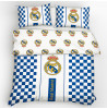 Real Madrid CF Checked Double Reversible Cotton Duvet Cover Set