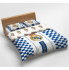 Real Madrid CF Checked Double Cotton Duvet Cover Bedding Set