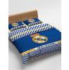 Real Madrid CF Blue Double Cotton Duvet Cover Bedding Set