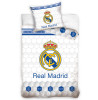 Real Madrid CF Juego de funda de edredón individual Geo blanco