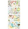 Adesivi murali alfabeto animali compagni di stanza