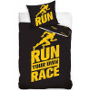 Runners Single Cotton Duvet Cover Set - Black and Yellow