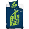 Runners Single Cotton Duvet Cover Set - Blue and Green