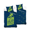 Runners Blue and Green Single Cotton Duvet Cover Set