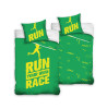 Runners Single Green and Yellow Cotton Duvet Cover Set