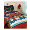 Santa's Grotto Single Duvet Cover and Pillowcase Set - Christmas Bedding