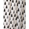 Scandi Bear Forest Lined Curtains Mono Wild One