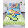 Simpsons Bart Skate Single Duvet Cover Set