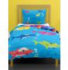 Shark Family Single Duvet Cover and Pillowcase Set