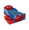 Spiderman Toddler Bed with Underbed Storage and Light Up Eyes plus Foam Mattress