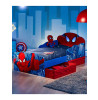 Spiderman Light Up Eyes Toddler Bed plus Storage and Deluxe Foam Mattress