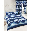 Stardust Unicorn Double Duvet Cover and Pillowcase Set - Navy Blue