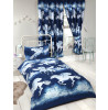 Stardust Unicorn Junior Toddler Duvet Cover and Pillowcase Set - Navy Blue