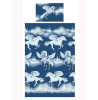 Navy Blue Stardust Unicorn Single Duvet Cover and Pillowcase Set
