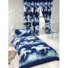 Stardust Unicorn Single Duvet Cover and Pillowcase Set - Navy Blue