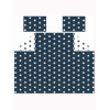 Navy Blue and White Stars Double Bedding Set