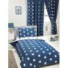 Navy Blue and White Stars Single Duvet Cover Bedroom