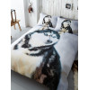 Husky Dog Single Duvet Cover and Pillowcase Set