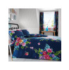 Navy and Pink Alice Floral King Size Duvet Cover and Pillowcase Set