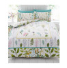 Botanical Flowers King Size Duvet Cover and Pillowcase Set