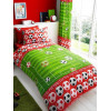 Goal Football Single Duvet Cover and Pillowcase Set - Red
