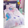 Unicorn Stars Single Duvet Cover and Pillowcase Set