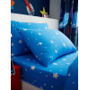 Space Stars Single Fitted Sheet and Pillowcase Set