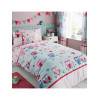Owls and Hearts Single Duvet Cover Bedding Set