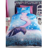Mermaid Wave Single Duvet Cover and Pillowcase Set