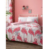 Flamingos and Palm Trees King Size Duvet Cover Set