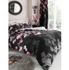 Roseanne Floral King Size Duvet Cover and Pillowcase Set - Black